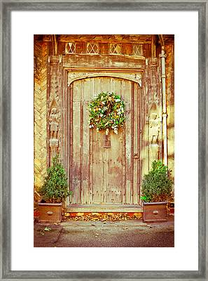 Christmas Wreath Framed Print by Tom Gowanlock