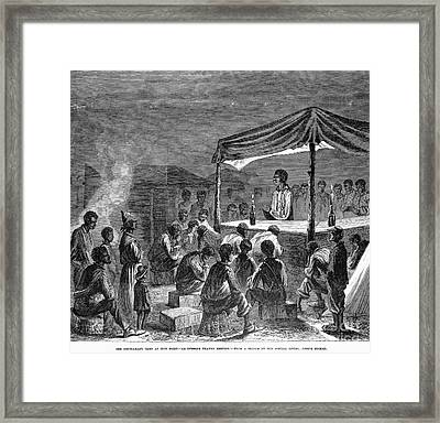 Civil War: Contraband Framed Print by Granger