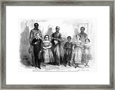 Civil War: Freed Slaves Framed Print by Granger