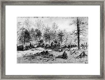 Civil War: Spotsylvania Framed Print by Granger