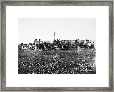 Civil War: Telegraph, 1864 Framed Print by Granger