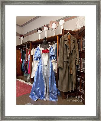 Classic Fashions In A Closet Framed Print by Jaak Nilson