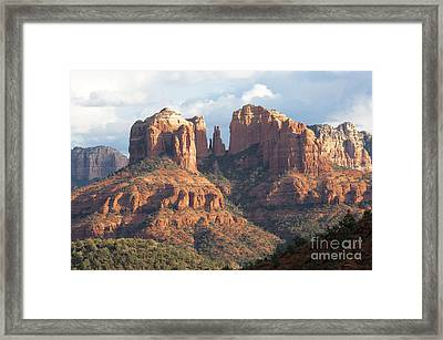 Clearing Storm In Sedona Framed Print by Sandra Bronstein