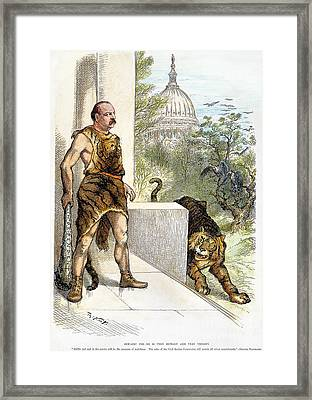 Cleveland Cartoon, 1884 Framed Print by Granger