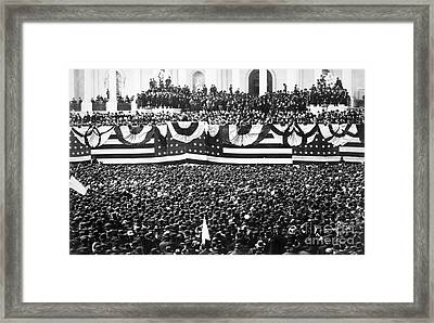 Clevelands Inauguration Framed Print by Granger