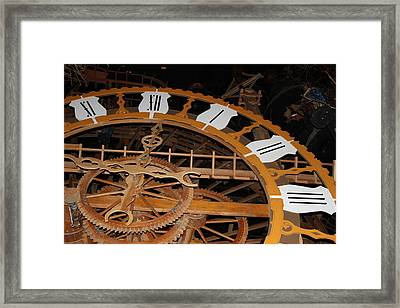 Clock Work Framed Print by Mike Stouffer