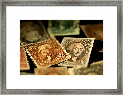 Closeup Of Classic 19th Century United Framed Print by Phil Schermeister