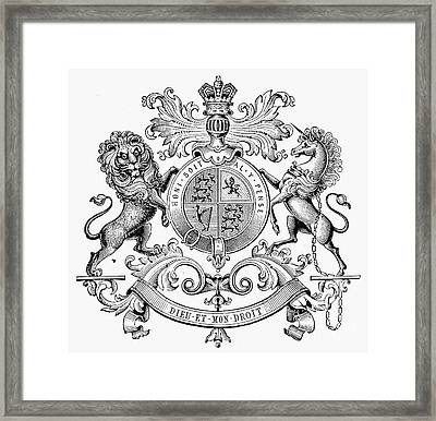Coat Of Arms: Great Britain Framed Print by Granger