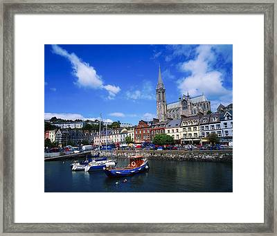 Cobh Cathedral & Harbour, Co Cork Framed Print by The Irish Image Collection