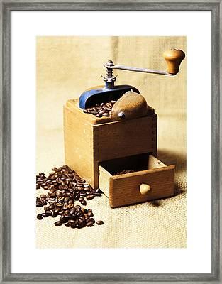 Coffee Mill Framed Print by Falko Follert