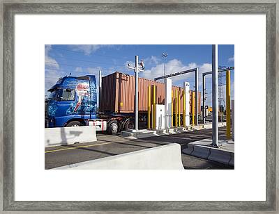 Container Port Security Framed Print by Paul Rapson