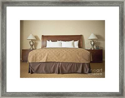 Contemporary Bedroom Framed Print by Dave & Les Jacobs
