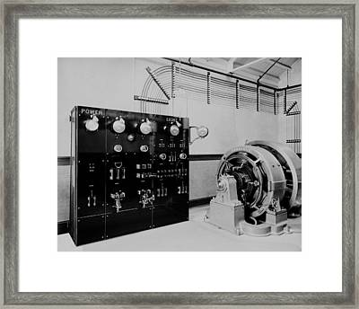 Control Panel And Dynamo Generator Framed Print by Everett