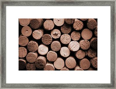 Cork Wine Framed Print by Isabel Poulin