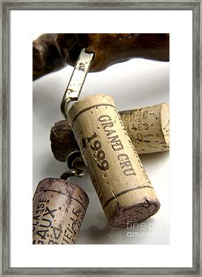 Corks Of French Wine Framed Print by Bernard Jaubert