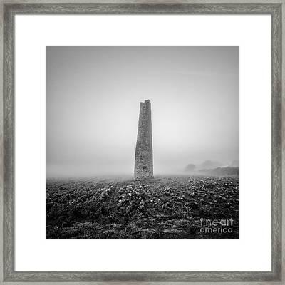 Cornish Mine Chimney Framed Print by John Farnan