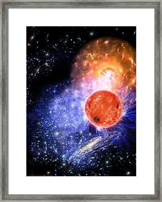 Cosmic Evolution Framed Print by Don Dixon