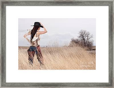 Country Girl Framed Print by Cindy Singleton