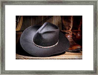 Cowboy Hat Framed Print by Olivier Le Queinec