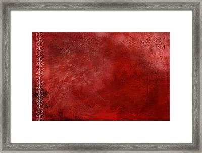 Crimson China Framed Print by Christopher Gaston