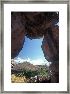 Cyclopean Arch Framed Print by Andonis Katanos