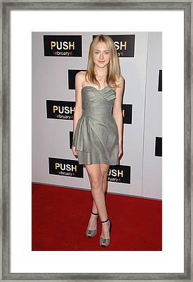 Dakota Fanning At Arrivals For Push Framed Print by Everett