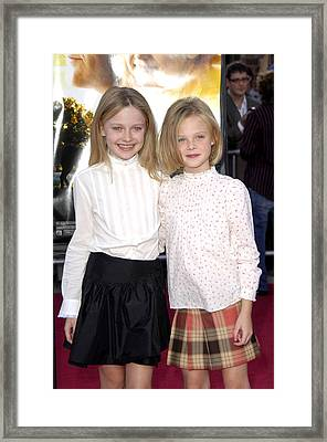 Dakota Fanning, Elle Fanning Framed Print by Everett