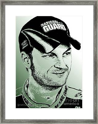 Dale Earnhardt Jr In 2009 Framed Print by J McCombie