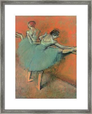 Dancers At The Bar Framed Print by Edgar Degas