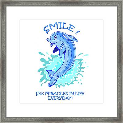Darla The Dolphin Framed Print by John Keaton