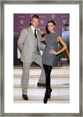 David Beckham Wearing A Tom Ford Suit Framed Print by Everett
