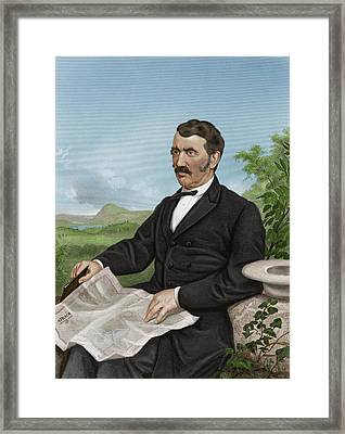 David Livingstone, Scottish Explorer Framed Print by Maria Platt-evans