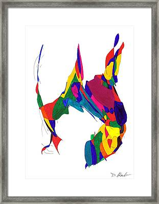 Definism Design 5 Framed Print by Darrell Black