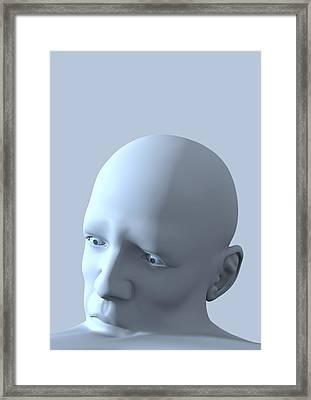 Depression, Conceptual Image Framed Print by David Mack