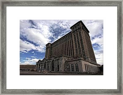 Detroit's Abandoned Michigan Central Station Framed Print by Gordon Dean II