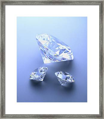 Diamonds Framed Print by Lawrence Lawry