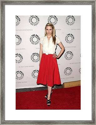 Dianna Agron At Arrivals For Glee Framed Print by Everett