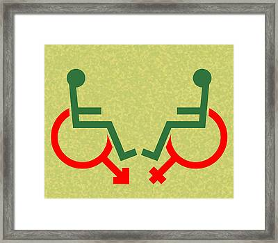 Disability Sexuality, Conceptual Artwork Framed Print by Stephen Wood