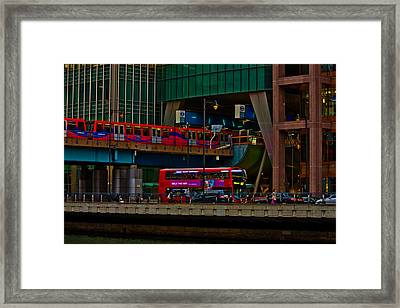 Docklands London Framed Print by Dawn OConnor