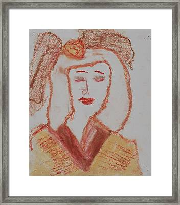 Doll Framed Print by Iris Gill