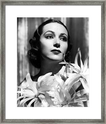 Dolores Del Rio, Portrait Ca. 1934 Framed Print by Everett