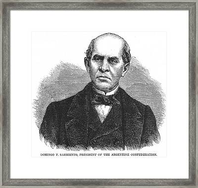 Domingo Sarmiento Framed Print by Granger