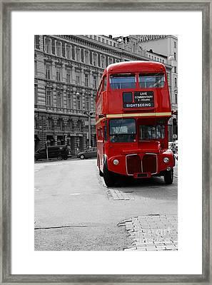 Double Decker Bus Framed Print by Sophie Vigneault