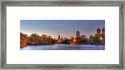 Downtown Chicago From Lincoln Park Framed Print by Twenty Two North Photography