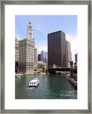 Downtown Chicago  Framed Print by Sophie Vigneault