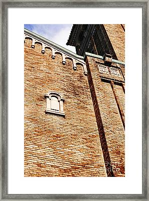 Downtown Northampton - Church Framed Print by HD Connelly