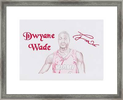 Dwyane Wade Framed Print by Toni Jaso