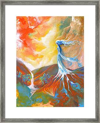 Earth Angel Framed Print by Valerie Graniou-Cook