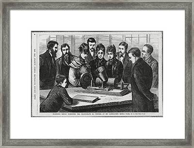 Edison And His Phonograph Framed Print by Humanities & Social Sciences Librarynew York Public Library