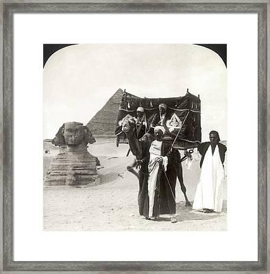 Egypt: Great Sphinx, 1908 Framed Print by Granger